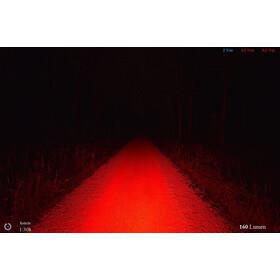 Lupine Rotlicht Lampa tylna, black/white